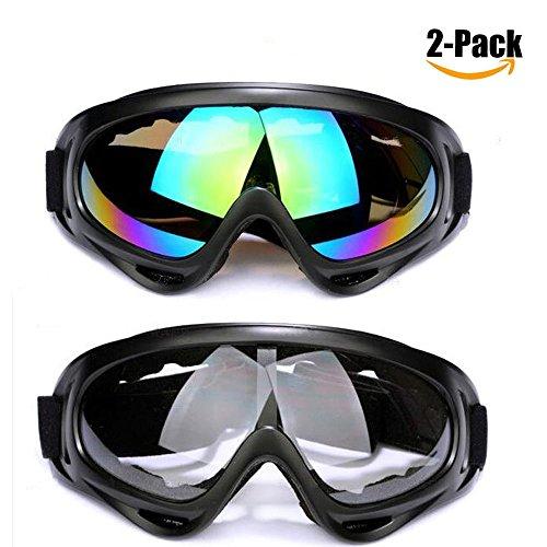 Skibrille,Schneebrille mit Wind- und Staubschutz für Kinder,Jungen&Mädchen, Männer & Frauen,...
