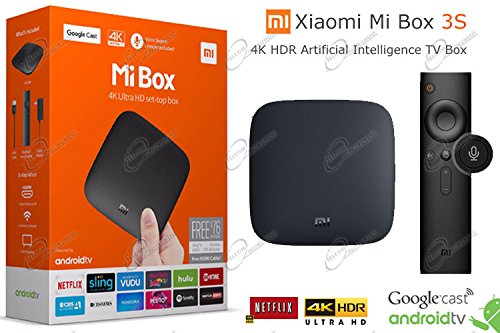 MI BOX 4K Ultra HD Set Top Box è lettore multimediale per Netflix e Youtube, Google Cast, Versione INT