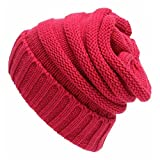 Z de p Unisexe Trendy simple Keep Warm Wool Knit Hat hiver automne taille unique Red1...