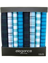 Retreez Caja regalo con colección de 8 pañuelos de puro algodón para hombre
