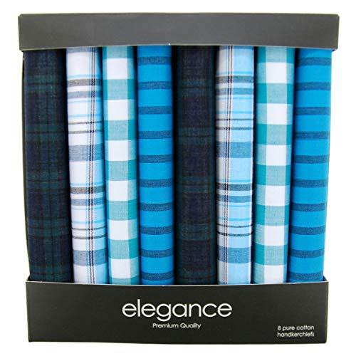 Retreez Caja regalo con colección de 8 pañuelos de puro algodón para hombre - Gemischte Set A5A012