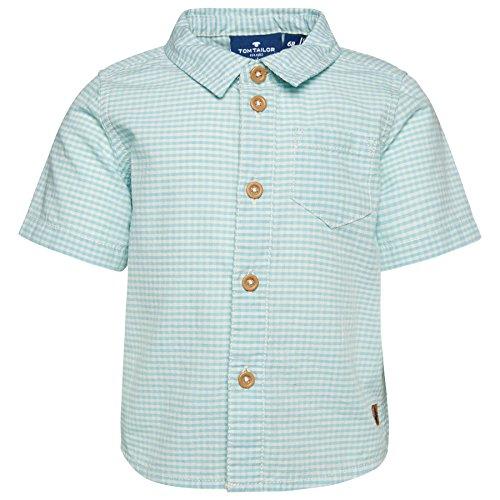 Tom Tailor für Babies Shirt / Blouse fein kariertes Kurzarm-Hemd light lotus green 80