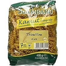 Sgambaro Khorasan Kamut Integrale Trivelline, No. 47 - 400 gr - [confezione da 4]