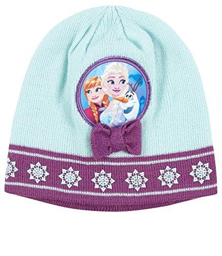 83c4947582d Bonnet enfant fille La reine des neiges Vert violet de 3 à 9ans (54
