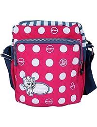 Super Drool Pink Dancing Polkas Sling Bag (2 Litres)