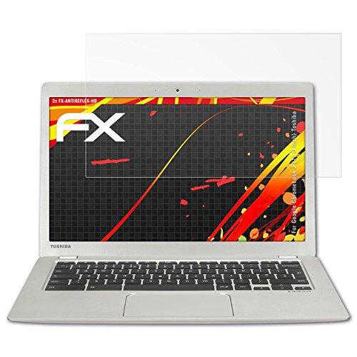 atFolix Schutzfolie kompatibel mit Google Chromebook 2 (13.3 Inch) Toshiba Bildschirmschutzfolie, HD-Entspiegelung FX Folie (2X)