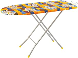 Flipzon Self Standing Folding Ironing Board - (Colour May Vary, Multi-Color) - (Make in India)