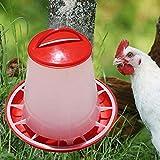 Aprettysunny Pollo plástico Codorniz Aves de Corral Chick Bebedero de gallinas Alimentador de Alimentos Waterer Pet Supply