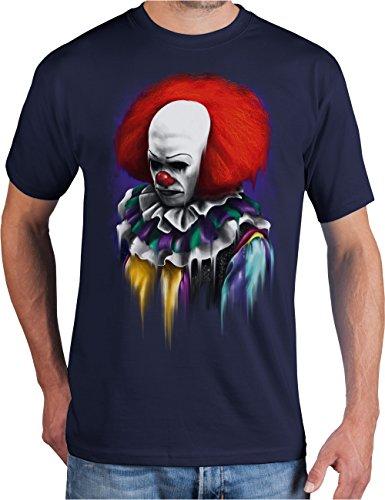adrotes® ES ist Spielzeit - Horror T-Shirt - Gr. S-3XL Navy
