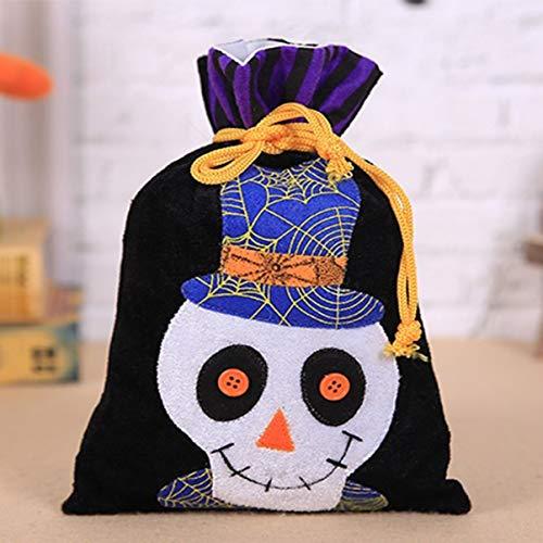 ween Dekorationen Hexe Kürbis Geist Vampir Vlies Handtasche Kinder Urlaub Candy Bag Party Dress Up Prop Tasche (Candy Skull Dress Up)