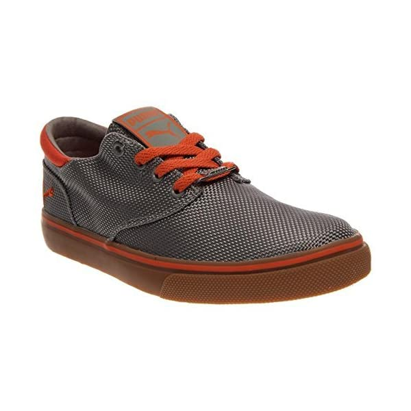Puma-Mens-El-Seevo-Canvas-Shoes-11-5-Limestone-GrayTiger-Orange