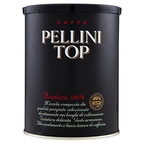 Pellini Caffè, Pellini Top Arabica 100% Per Moka, 2 Barattoli da 250gr, Totale 500gr