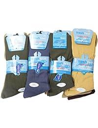 12 x New Mens Non Elastic Diabetic Big Foot Gentel Grip Everyday Socks Size 11-14