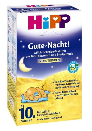 Hipp Gute Nacht Bio-Milch-Getreide Mahlzeit ab 10. Monat, 2er Pack (2 x 500g)