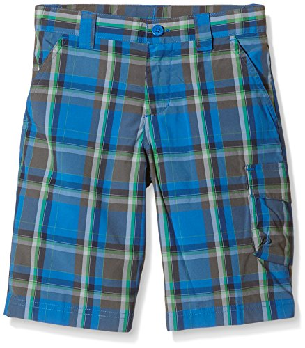 Columbia Boys' Silver Ridge III Karierte Shorts XL Super Blue Plaid