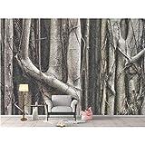 Hyiiw Home Hotel Decor Tapete Natur Big Tree Root Fototapete Wandbild 3D Wohnzimmer Schlafzimmer selbstklebend gewebte Stofftapete