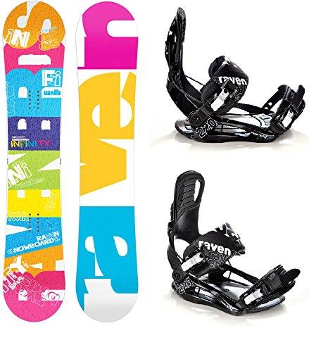 Snowboard Set: Snowboard Raven Infinity Rocker + Raven Bindung s220 Black M