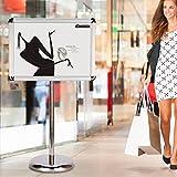 A3 / A4 Stand Poster da terra, supporto per postazione di visualizzazione Supporto per insegna Menu da pavimento Stand pubblicitario Stand con altezza regolabile (A4 Smusso)