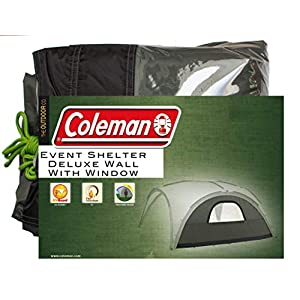 side panel for coleman event shelter deluxe xl 4.5 x 4.5 m, gazebo side panel with window, high sun protection 50+, water resistant, green