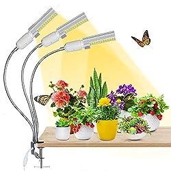 Pflanzenlampe LED, AMBOTHER Pflanzenlicht 68W 132 LEDS Grow Lampe Vollspektrum 3 Modi 5 Helligkeit einstellbar 3H/6H/12H Timing-Funktion Grow Light Wachstumslampe für Garten pflanzen Zimmerpflanzen