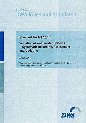 Standard DWA-A 133E Valuation of Wastewater Systems - Systematic Recording, Assessment ans Updating (German DWA Set of Rules) Ans System