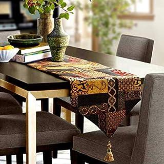 Artbisons Table Runner Handmade Golden Table Runner (84x13, Gold Illusion)