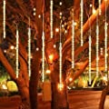 Ceanfly 30cm 30Tube 136LEDs Meteor Shower Fairy Lights, Waterproof Meteor Shower Lights with EU Plug, Meteor Shower Rain Lights for Wedding Christmas Party Garden Tree Home Decoration Outdoor