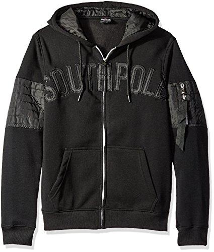 Southpole Herren Oberteile / Zip Hoodie Mesa schwarz XL