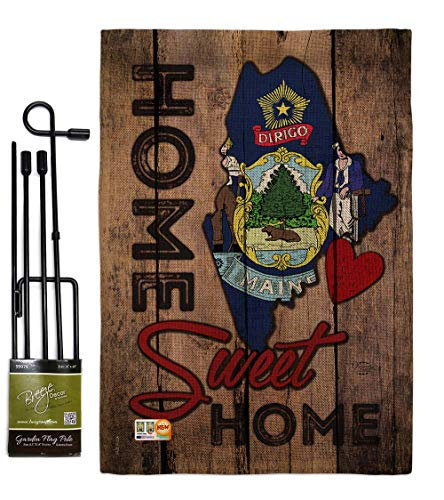 108105-P3-02 Michigan Americana States Impressions Decorative Vertical Garden Flag Set Metal Wall