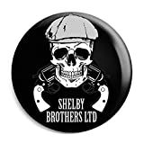 Funky Gifts Shelby Brothers Skull 25mm Button Badge