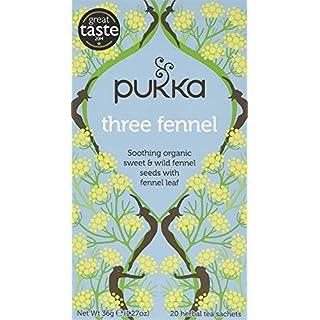 Pukka Herbs Three Fennel Herbal Tea - Organic Sweet & Bitter Fennel Seed and Fennel Leaf  (Pack of 4)