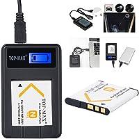 TOP-MAX USB Ladegerät für Sony NP-BN1 Ersatzakku für Sony NP-BN1 - mit Micro USB Anschluss !