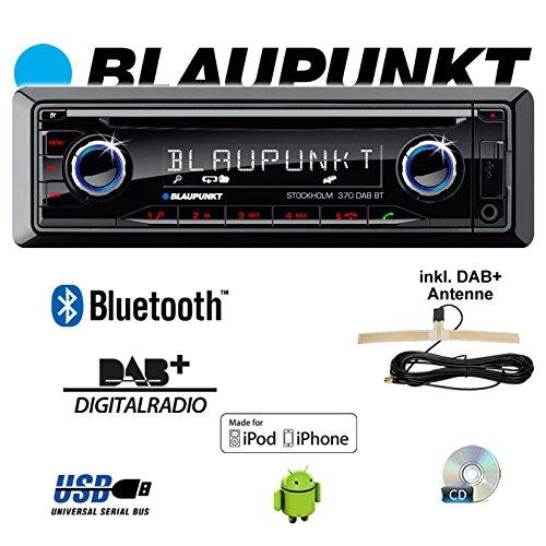 "Blaupunkt 2001017123462"" Stockholm 370 DAB BT Auto-Radio schwarz"