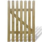 vidaXL Portillon en bois barrière décorative clôture de jardin Pin imprégné 100 x 150cm