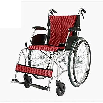 Shisky Easy folding portable manual wheelchair Ultralight aluminum alloy trolley