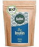 Inulin Bio Pulver - 500g Agavenpulver mit 90% Ballaststoffgehalt - Präbiotikum - abgefüllt und kontrolliert in Deutschland (DE-ÖKO-005) - 100% vegan