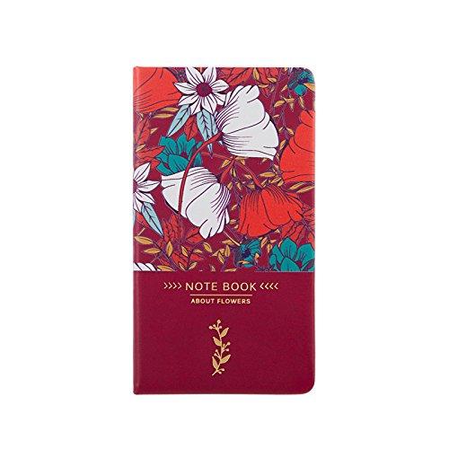 XIAOXINYUAN A6 Lato Libro Notepad Notebook Cancelleria Agenda Rubrica Portatile. Vino Rosso