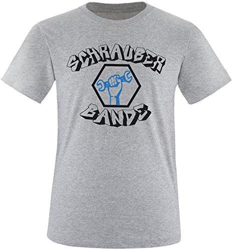 EZYshirt® Schrauber Bande Herren Rundhals T-Shirt Grau/Schwar/Blau
