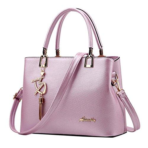 VJGOAL Damen Schultertasche, Frau oder Mutter Geschenk Damenmode luxuriöse Leder Crossbody Schulter Messenger Party Bag Handtasche (29*13*21cm, Lila)