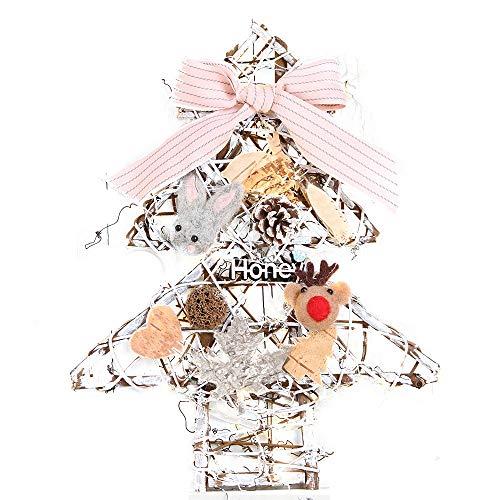 Weihnachts Deko,Wawer Weihnachts Kranz Tür Wand Ornament Weihnachtsbaum Hängende Dekoration Blume Bogen Fenster Dekoration Urlaub Geschenke (A) (Christmas Bogen Dekoration)
