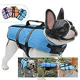 lovelonglong - Chaleco Salvavidas para Perros, para Perros pequeños, medianos, Grandes, Seguros para Nadar o Proteger el Exterior