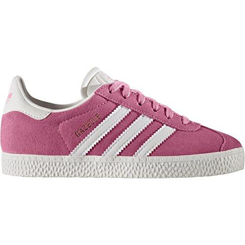 adidas Originals Gazelle C Easy Pink Suede Junior Trainers Easy Pink