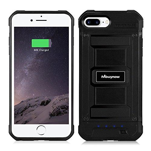 Mbuynow Cover Batteria Antiurto per iPhone 6 Plus / 6S Plus / 7 Plus / 8 Plus, Cover Resistente e Ricaricabile da 4200mAh per iPhone 6 Plus / 6S Plus / 7 Plus / 8 Plus da 5.5'