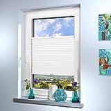 Schwer entflammbare Plissee nach Maß (B1, DIN 4021), hochqualitative Wertarbeit, für Fenster und Türen, alle Größen und mehr als 20 Farben verfügbar, Maßanfertigung (Farbe: Weiß, Höhe: 20-80cm, Breite: 20-50cm)