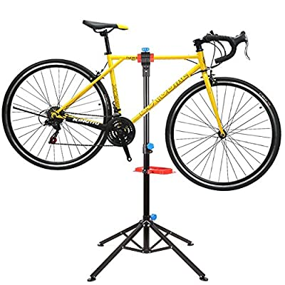 FEMOR Bike Repair stand,Folding Cycle Bicycle Maintenance Mechanic Work Stand with Tool Tray and Quick Release from Femor