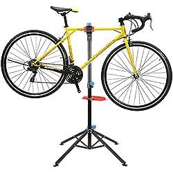 MVPower Pied d'Atelier avec Tools pour Vélo Support Stand Maintenance Réparation Workstand Mécanicien pour Vélo VTT - Pivotant jusqu'à 360°- Réglable 115-170cm