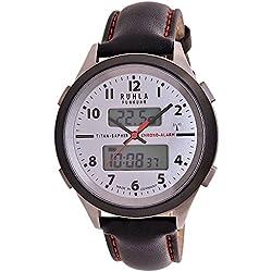 RUHLA Funkuhr Business Alarm Titan/ Saphirglas 27-17C