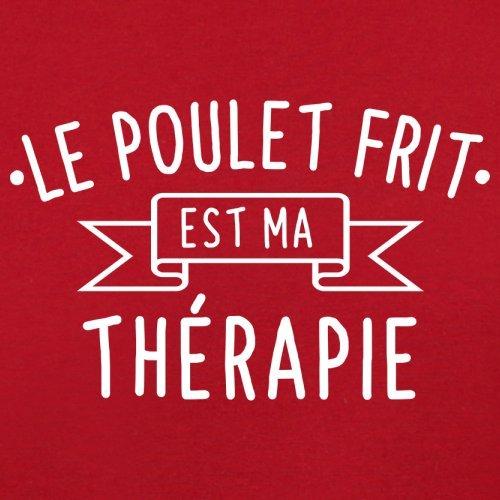 Le poulet frit est ma thérapie - Femme T-Shirt - 14 couleur Rouge