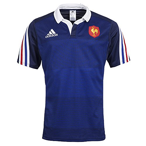 Adidas FFR HOME RUGBY JERSEY Maglia Jersey Rugby Blu per Uomo Climalite