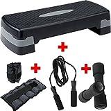 TNP Accessories Aerobic Stepper Step Steps Exercise Cardio Gym Yoga Home